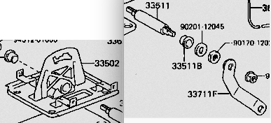Shift Lever Base Plate Assembly for 88-90 62 Series Cruisers