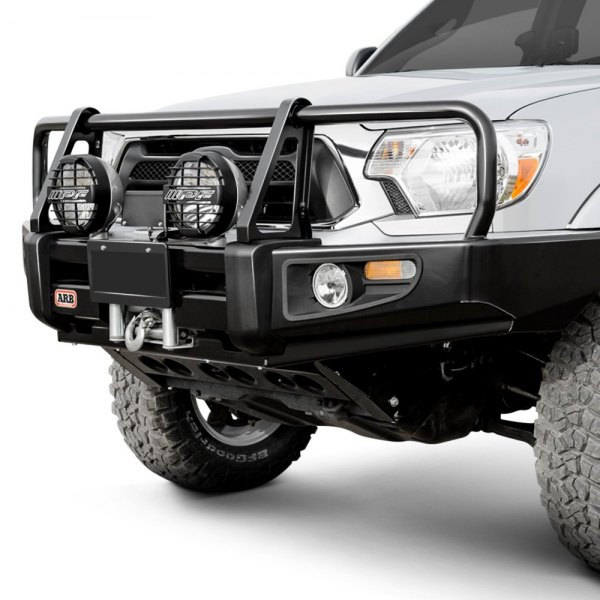 Deluxe Black Winch HD Bumper w Grille Guard for 11-16 Pathfinder