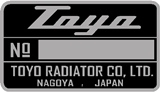 Toyo Radiator Serial Number Decal