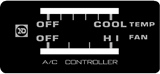 A/C Control Box Decal 40 Series 79-84