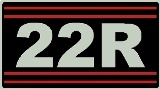 22R Valve Cover Decal