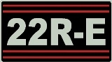 22R-E Toyota Valve Cover Decal