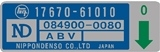 ABV Valve Sticker Blue 75-79