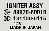 Igniter Assembly Decal 1/75-3/76 2F
