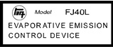 FJ40L Evaporative Emission Control Device Decal